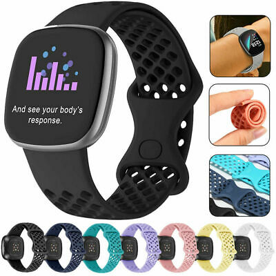 $ CDN6.76 • Buy Silicone Sports Wrist Strap Replacement Watch Band For Fitbit Versa 3 / Sense