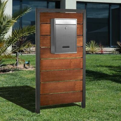 $249 • Buy Mailbox Stand Aluminum Powder Coated.Wall Aluminum Framed,Mailbox On Front.