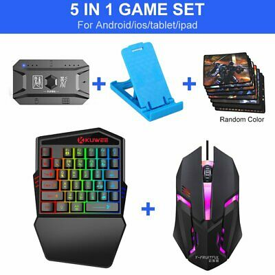AU38.55 • Buy 5-in1 Wireless Bluetooth Gaming Gamepad One-handed Keyboard Mouse/Pad/Holder Set