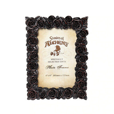 Alchemy Gothic Rose Buds Picture Photo Frame Table Stand Wall Mount Bedroom 6x4 • 18.88£