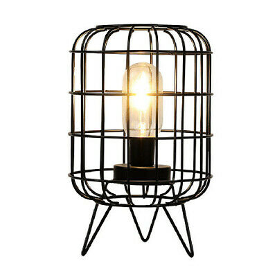 £18.99 • Buy Metal Table Lamp Modern Battery-Powered With Feet Cage Cordless Lamp