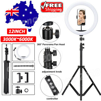 AU24.69 • Buy 12  Dimmable LED Ring Light Tripod Stand Selfie Mini Circle Lamp Make Up AU