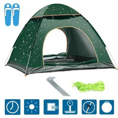 £20.49 • Buy 2~3 Man Person Family Camping Waterproof Pop-Up Tent Double Layer Festival Beach