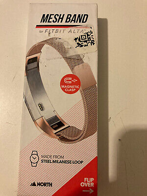 AU11.96 • Buy Mesh Band Adjustable FITBIT ALTA Metal Buckle REPLACEMENT BAND Rose