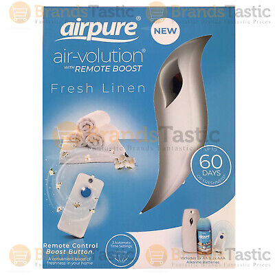 £9.49 • Buy 1 X Airpure Air-volution Automatic Air Freshener With Remote & Fresh Linen 250ml
