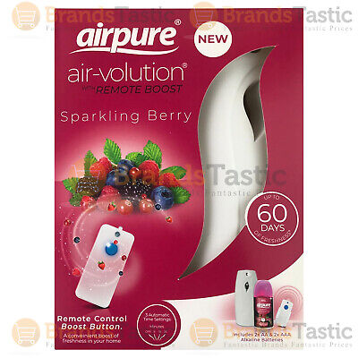 £9.49 • Buy 1 X Airpure Air-volution Automatic Freshener With Remote & Sparkling Berry 250ml