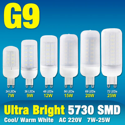 AU2.51 • Buy G9 Bright LED Corn Bulb Desk Lamp Cool/Warm Milky Lights 25/20/15/12/9/7W 220V