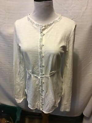 AU35.69 • Buy Oysho Womens Size Small Button Front Top Cotton Long Sleeve 03-10