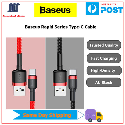 AU3.99 • Buy Baseus Type-C Data Sync Fast Charger Charging Cable For Samsung S10/S9+