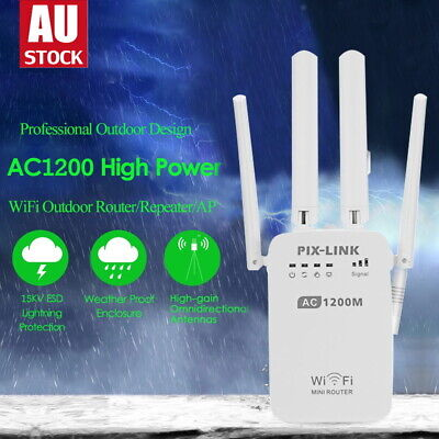 AU35.05 • Buy 1200Mbps Dual Band Wireless WiFi Repeater Router Range Extender Signal Booster