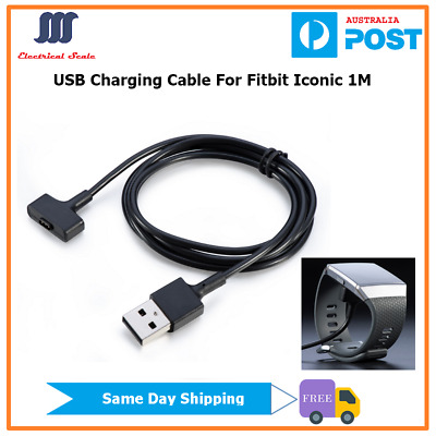 AU5.25 • Buy USB Charging Cable 1M For Fitbit Iconic Alta Flex One Charge HR Inspire Versa