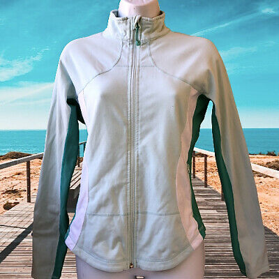 $ CDN60.45 • Buy Lululemon Full Zip Jacket Pale Green With Accents Womens 10