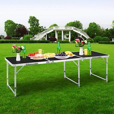 £38.99 • Buy 6ft Folding Camping Table Aluminium Picnic Portable Adjustable Party Bbq Outdoor