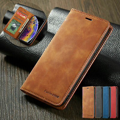 AU11.79 • Buy Magnetic Flip Leather Wallet Case For IPhone 12 11 Pro Max XS X XR 8 7 6S Cover