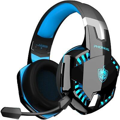 £40.82 • Buy Wireless Wired Gaming Headset Mic Bluetooth For Ps4 Xbox One PC Switch Led Light