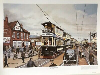 """£5 • Buy West Bromwich Albion FC Related Art Print """"Trams Outside The Hawthorns"""" By E W G"""