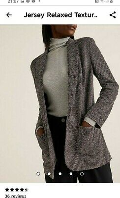 M & S Jersey Relaxed Fit Textured Blazer  Size 20 • 13£