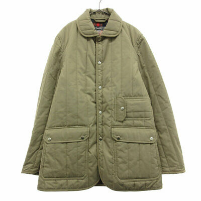 MIGHTY-MAC Lining Check Batting Coat Beige • 47.13£