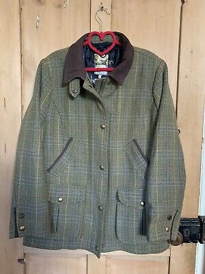£100 • Buy Joules Tweed Jacket/ Field Coat 18 Burghley Three Day Event Stamford
