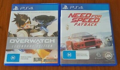 AU22.95 • Buy Need For Speed: Payback + Overwatch Playstation 4 PS4 **FREE TRACKED POSTAGE**
