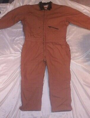 $35 • Buy Key Imperial Mens Coveralls Pants Brown Full Zip Legs Insulated Cotton 2XL Short
