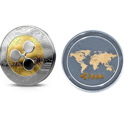 AU3.69 • Buy 1Pcs GoldSilver Ripple Commemorative Round Collectors Coin XRP Coins With Case