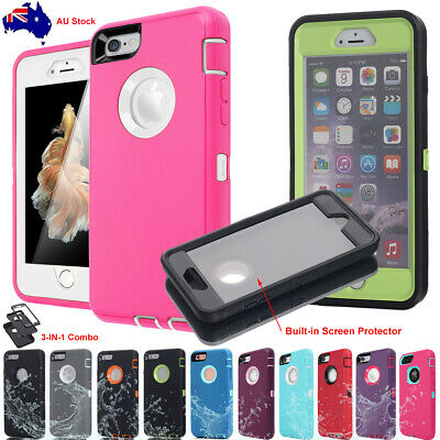 AU10.99 • Buy For IPhone 6s 7 8 Plus Case Rugged SHOCKPROOF Heavy Duty Cover Screen Protector