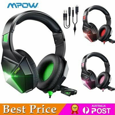 AU30.63 • Buy Mpow Gaming Headset Surround Headphones With Microphone For PS4 PS5 Xbox One PC