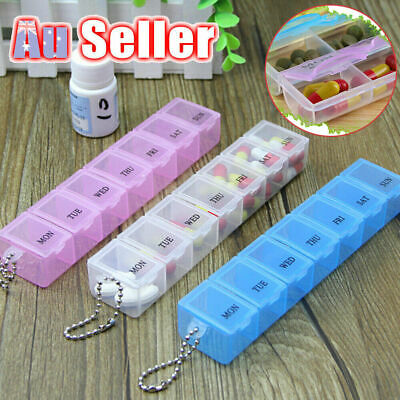 AU7.85 • Buy 7 Day Pill Box Carrier Weekly Tablet Organizer Medicine Storage Container Case