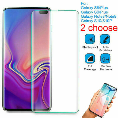 AU5.25 • Buy Samsung Galaxy S8 S9 S10 S20 Plus Tempered Glass Screen Protector  3D Curved