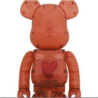 $3980 • Buy Emotionally Unavailable Bearbrick Be@rbrick 1000% Clear Red Heart