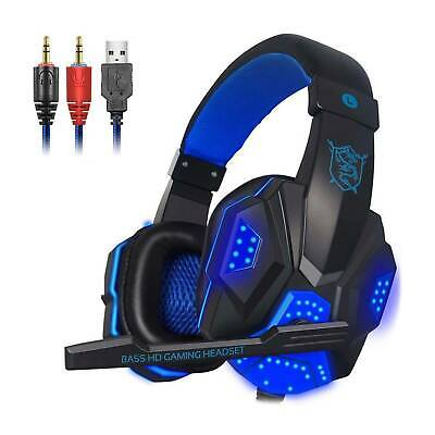 £7.99 • Buy Gaming Headset MIC Headphones For PC SW Laptop PS4 Slim One X S 3.5mm Headset