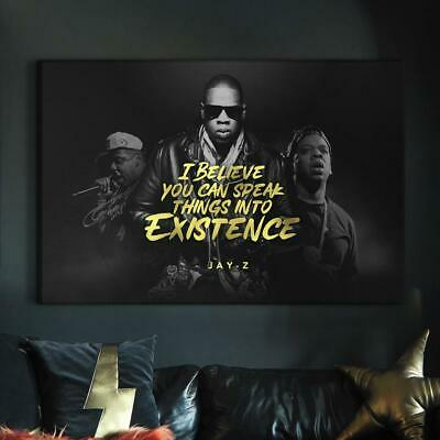 £12.03 • Buy Jay-Z Hip Hop Legends High Quality Canvas And Poster Print Wall Art Home Decor
