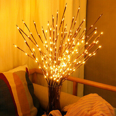 20LED Romantic Twigs Bead Lights Branch Indoor Party Decor Twig Lamp Warm White • 2.99£