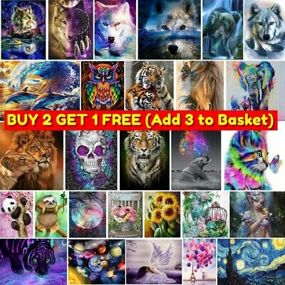 AU12.99 • Buy DIY 5D Diamond Painting Arts Full Drill Rhinestone Embroidery Cross Stitch Kits