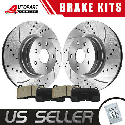 $107.94 • Buy Front Drilled Brake Rotors Ceramic Pads For 2005 2006 2007 2008 - 2012 Acura RL