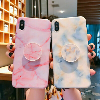 AU12.99 • Buy UK Marble Phone Case For IPhone 7 8 Plus 11 12 PRO MAX XR XS Cover Socket Holder