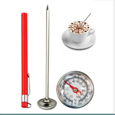 $7.88 • Buy Cooking Stainless Steel Milk Frothing Instant Read Dial Thermometer Kit
