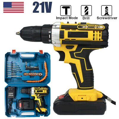 View Details Battery +21V Drill 2 Speed Electric Cordless Drill/Driver With 30pcs Bits Set US • 37.89$