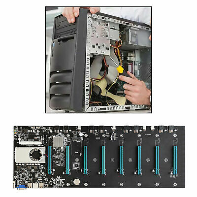 $189.99 • Buy BTC-S37 Mining Motherboard CPU Set Low Power Consume Sound Card Riser Card DDR3