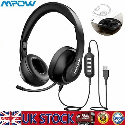 £21.19 • Buy Mpow Flodable Headset Call Center Headphone Gaming Earphone Office Car Phone UK