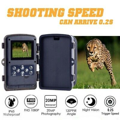 £35.98 • Buy 1080P 20MP Hunting Trail Camera HD Wildlife Scouting Cam IR Night Vision Outdoor