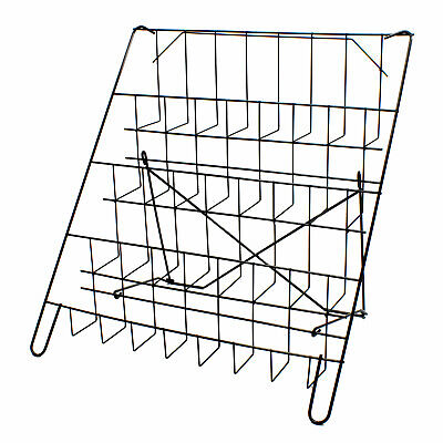 £25.47 • Buy Card Rack Display Stand In Black  - 4 Tier Wire Book Magazine Counter (E8B)