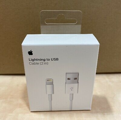 AU19.95 • Buy 100% Genuine Apple Lightning To USB Cable Charger IPhone (2m)