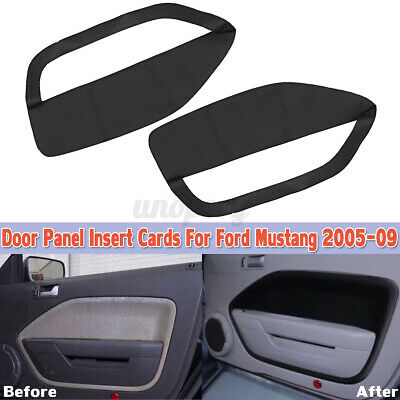 $33.78 • Buy Door Panel Insert Cards Leather Synthetic Cover For Ford Mustang 2005-200