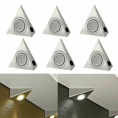 £7.89 • Buy Led Mains Kitchen Under Cabinet Cupboard Counter Triangle Light Unit Lamp Lights
