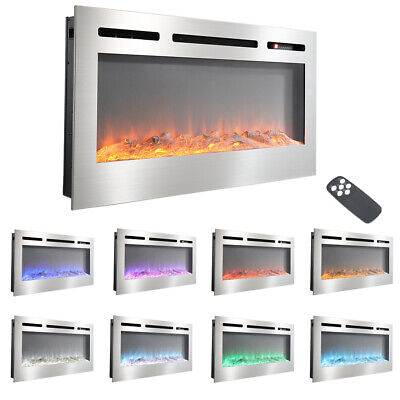 £329.95 • Buy Electric Fireplace Logs Crystal Flame Effect Stove Insert/Wall Timer Fire Heater