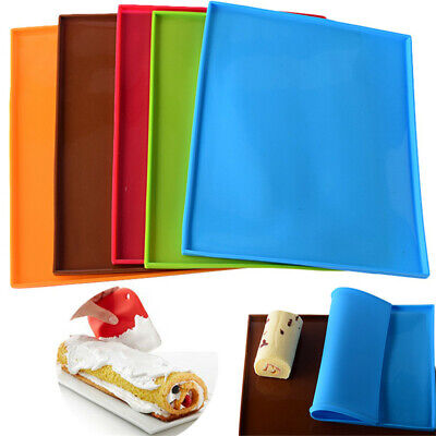 Kitchen Baking Tray Silicone Mat Pastry Sheet Mold Liner Swiss Roll Cake Mould • 4.96£