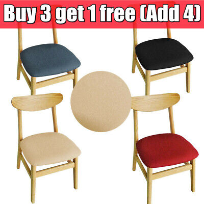 £2.94 • Buy Stretch Dining Chair Seat Covers Removable Seat Cushion Slipcovers Protector UK