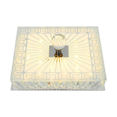 £16.59 • Buy Square Gorgeous LED Crystal Ceiling Down Light Panel Wall Kitchen Bathroom Lamp